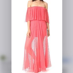 LIKELY Blaine gown flamingo pink size 2 nwt